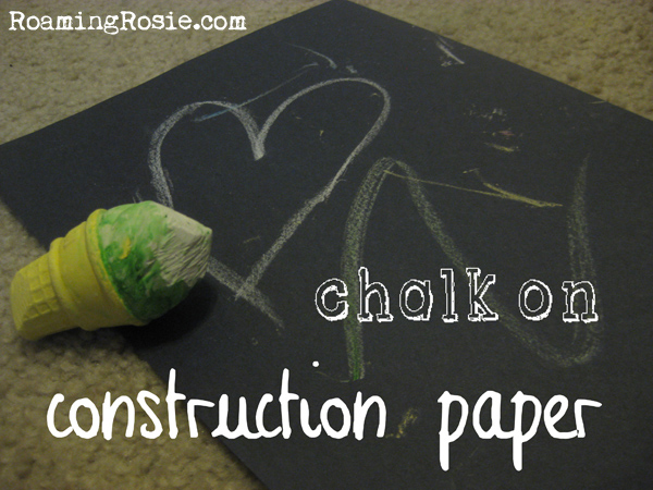 drawing with chalk on construction paper free activity for kids