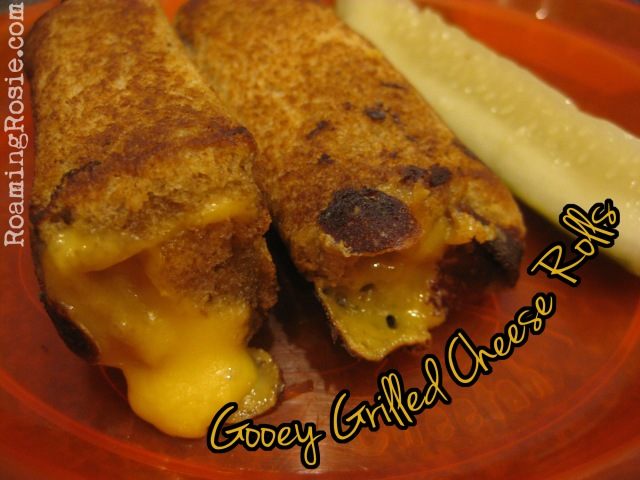 gooey grilled cheese rolls