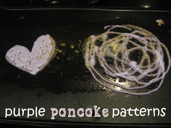 purple pancake patterns
