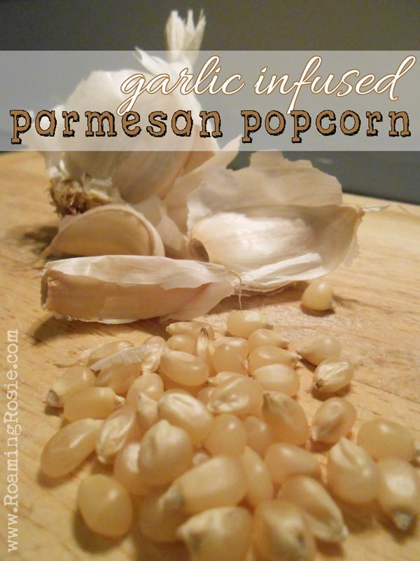 Garlic Infused Parmesan Popcorn Recipe