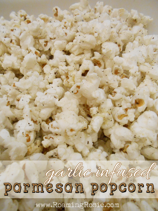 Garlic Infused Parmesan Popcorn Recipe
