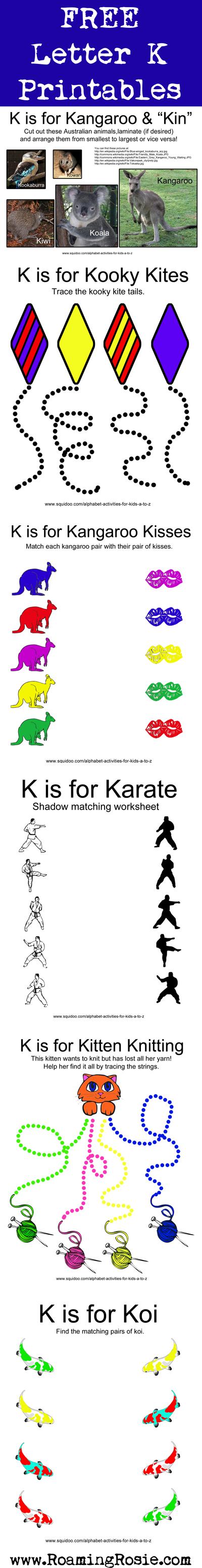 Letter K Printables