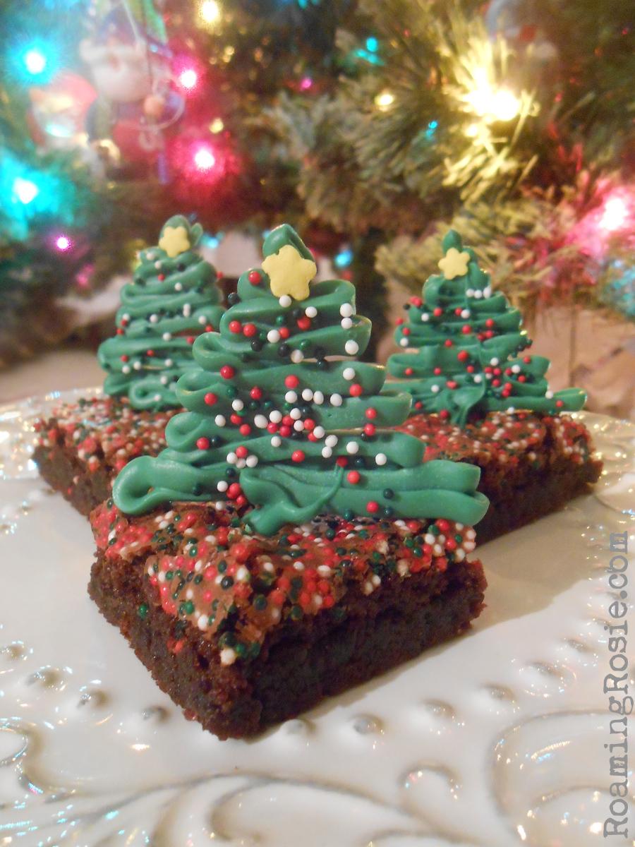 Chocolate Christmas Tree Brownies