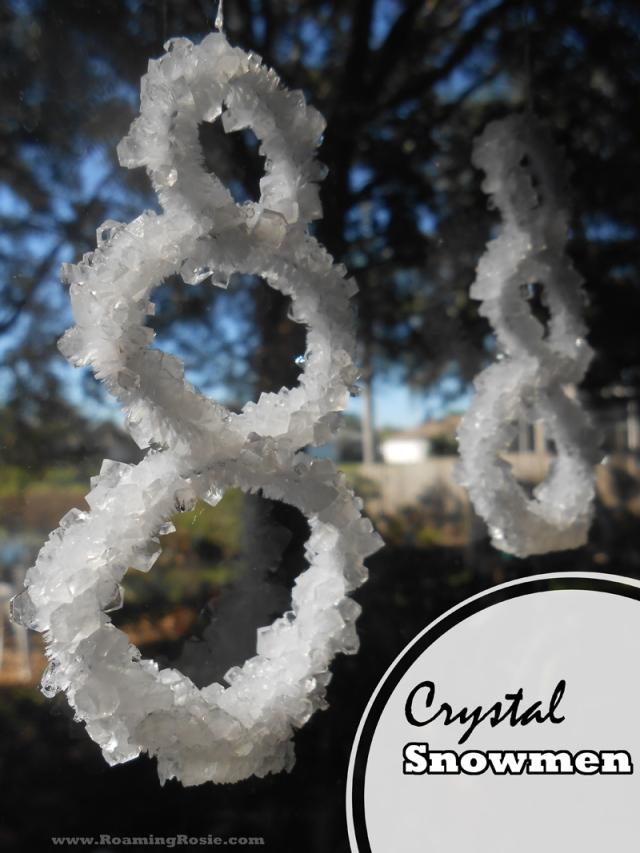 Crystal Snowmen | Borax Christmas Ornament Craft