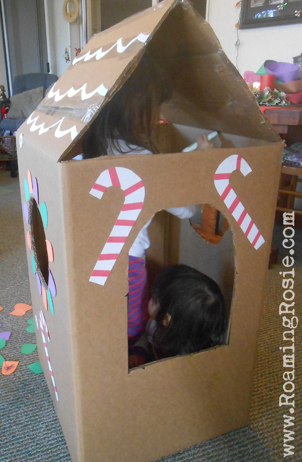 Diy Lifesize Cardboard Gingerbread House Roaming Rosie