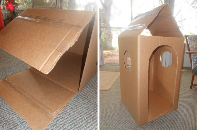 DIY Lifesize Cardboard Gingerbread House