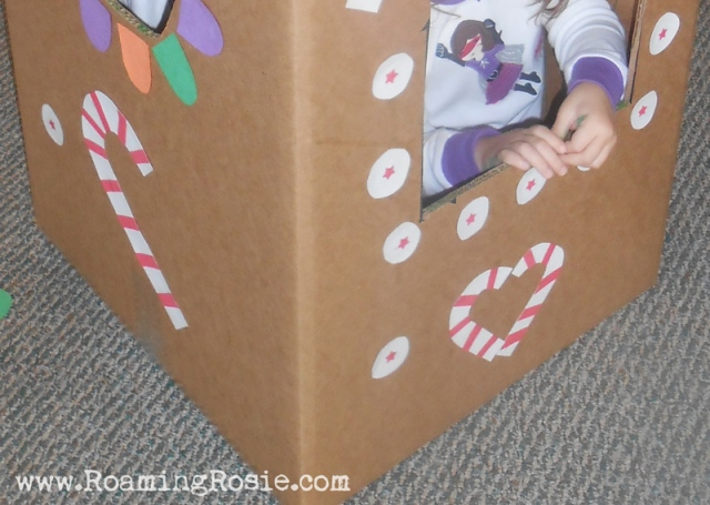 DIY Lifesize Cardboard Gingerbread House