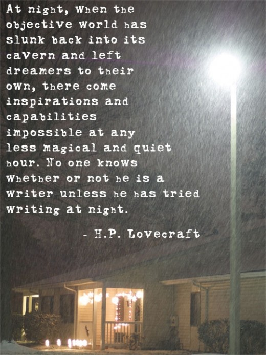 lovecraft writing at night quote