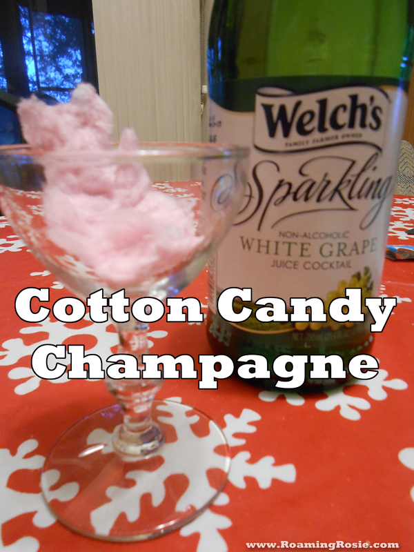 Cotton Candy Champagne or Sparkling Juice