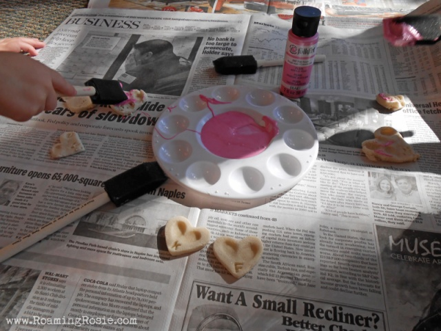 Heart Shaped Salt Dough Fingerprint Magnets