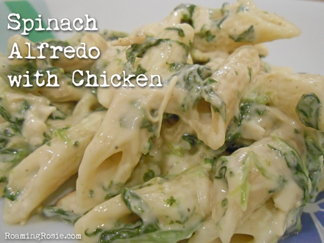 Spinach Alfredo with Chicken