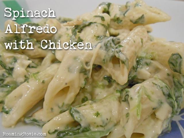 Spinach Alfredo with Chicken