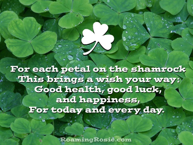 For Each Petal on the Shamrock Irish Blessing
