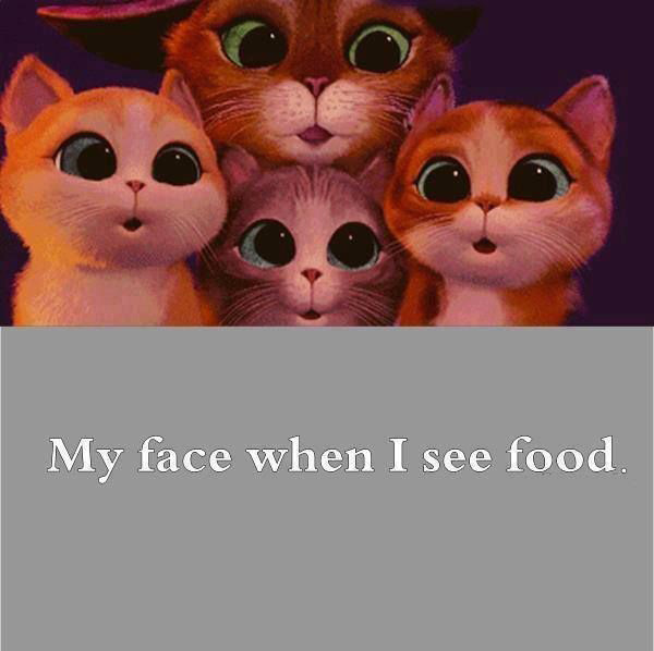My face when I see food.