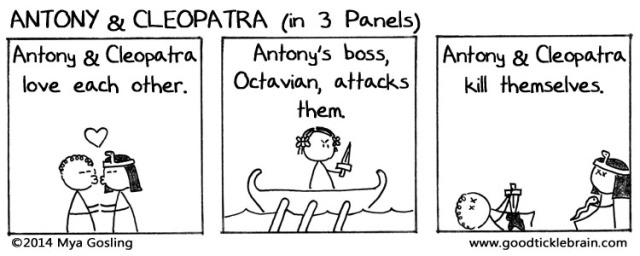 Antony and Cleopatra (in 3 Panels)
