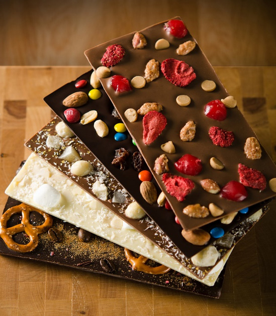 Create Your Own Chocolate Bar from 3 Types of Chocolate and Over 100 Toppings!