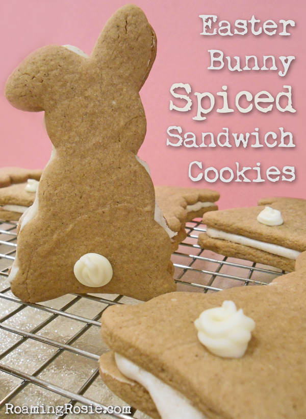 Easter Bunny Spiced Sandwich Cookies