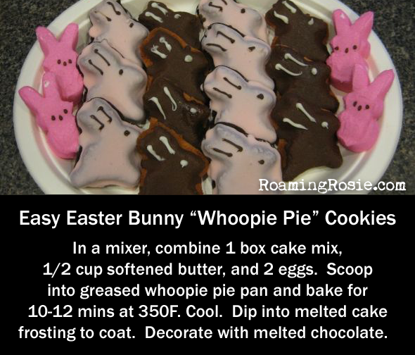 Easy Easter Bunny Whoopie Pie Cookies
