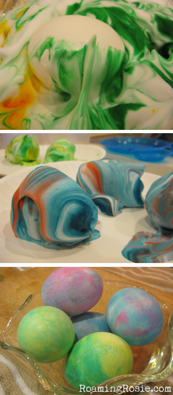 Marbled Easter Eggs with Shaving Cream