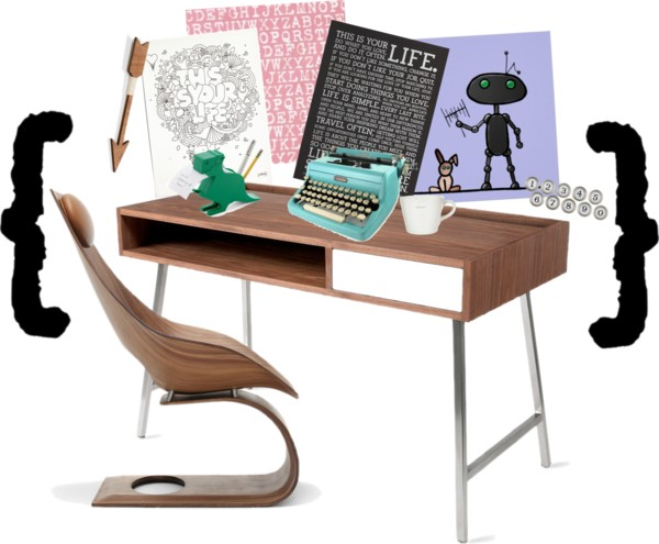 rabbit ears writing desk