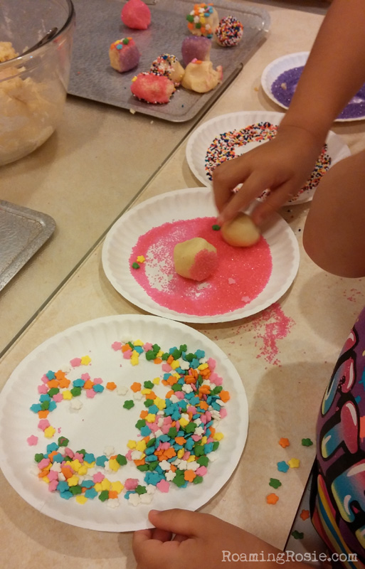 Making Sprinkle Cookies With The Kids!
