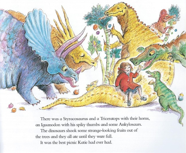 Katie and the Dinosaurs by James Mayhew