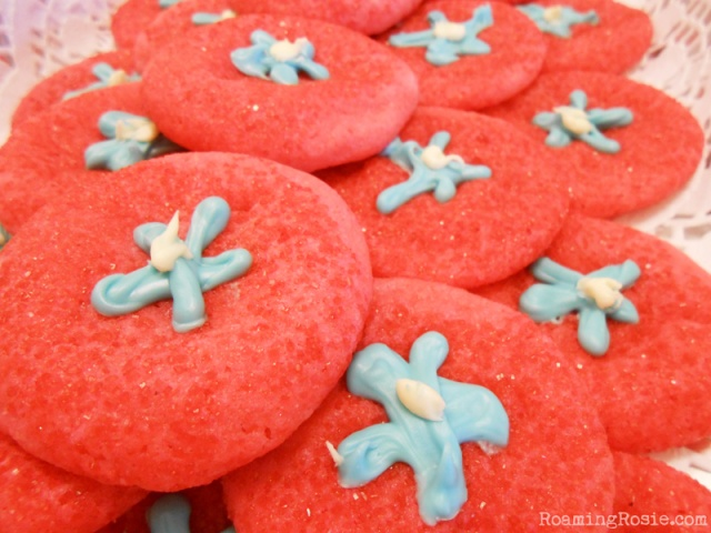 Red White and Blue July 4th Cookies
