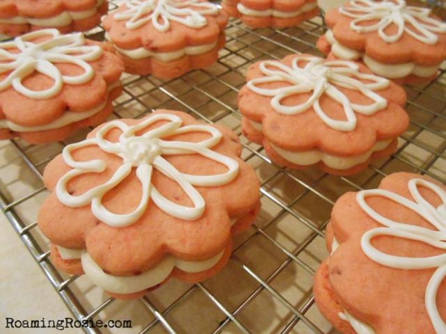Strawberry Cream Cheese Sandwich Cookies