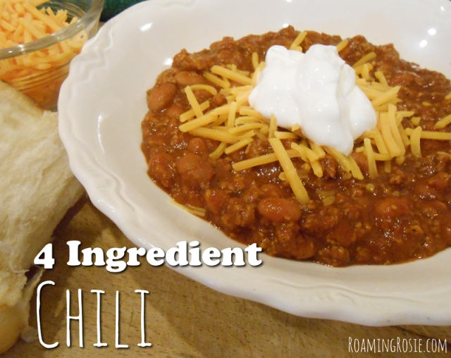 4 Ingredient Chili Recipe