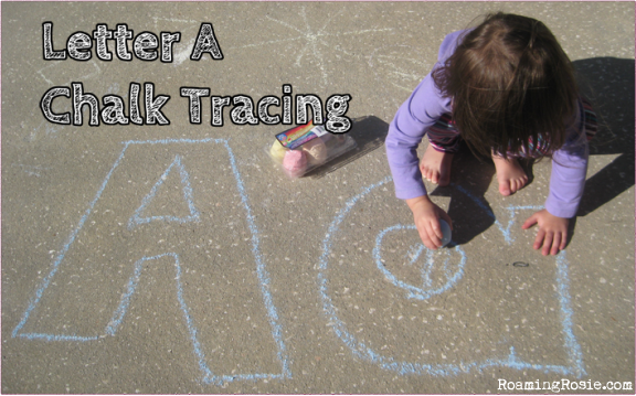 Alphabet Activities: Chalk Tracing