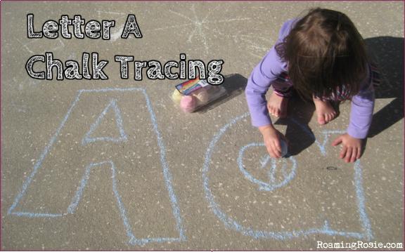 Alphabet Activities:  Chalk Tracing