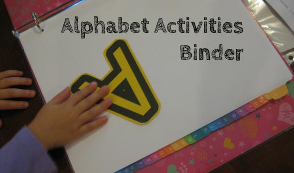 Alphabet Activities Binder