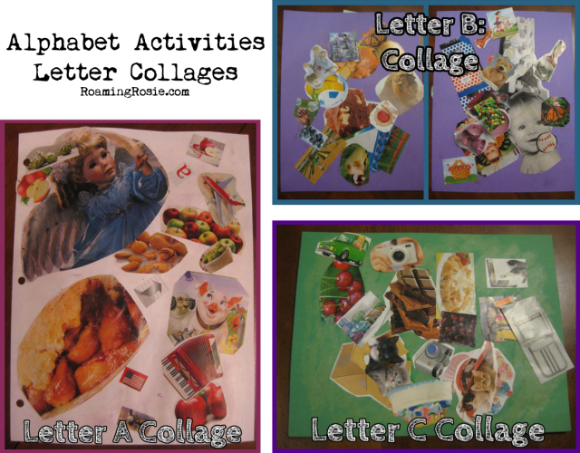 Alphabet Activities Letter Collages
