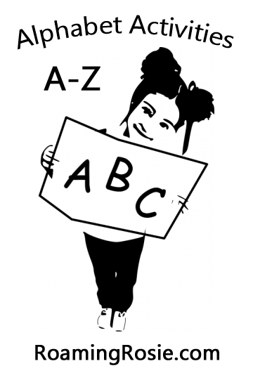 Alphabet Activities A to Z at RoamingRosie.com