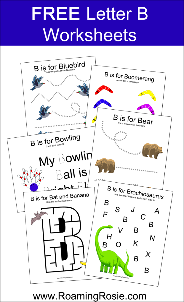 FREE Printable Letter B Alphabet Activities Worksheets
