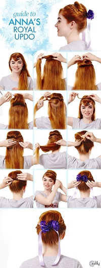 Guide to Anna's Royal Updo:  Disney's Frozen Hairstyles