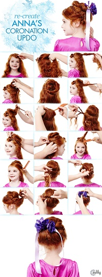Guide to Anna's Coronation Updo:  Disney's Frozen Hairstyles