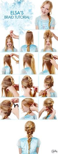 Elsa's Braid Tutorial:  Disney's Frozen Hairstyles
