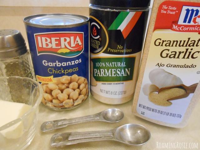 Garlic Parmesan Chickpeas