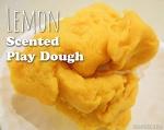 Lemon Scented Play Dough