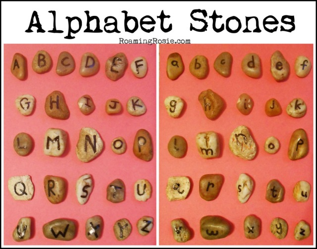 Alphabet Stones at RoamingRosie.com