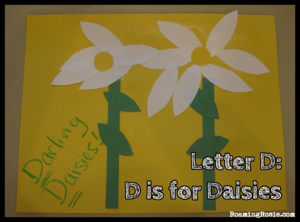 D is for Daisies {Alphabet Activities at RoamingRosie.com}