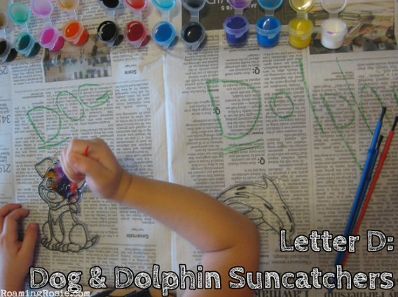D is for Dog and Dolphin {Alphabet Activities at RoamingRosie.com}