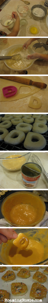 D is for Dulce De Leche Doughnuts {Alphabet Activities at RoamingRosie.com}