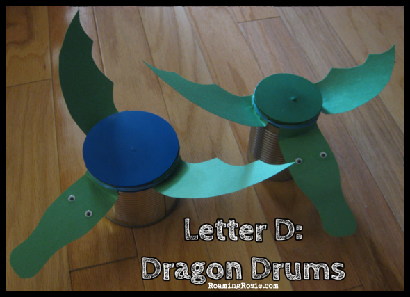 D is for Dragon Drums {Alphabet Activities at RoamingRosie.com}