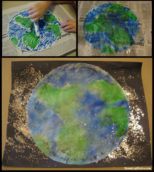 E is for Earth  {Alphabet Activities at RoamingRosie.com}