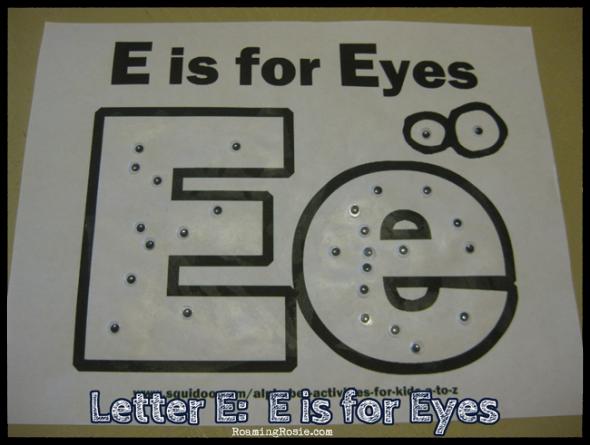 Letter E: Alphabet Activities for Kids : Roaming Rosie