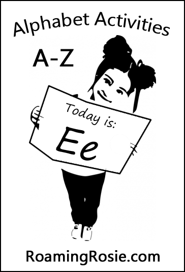 Letter E:  Alphabet Activities for Kids at RoamingRosie.com