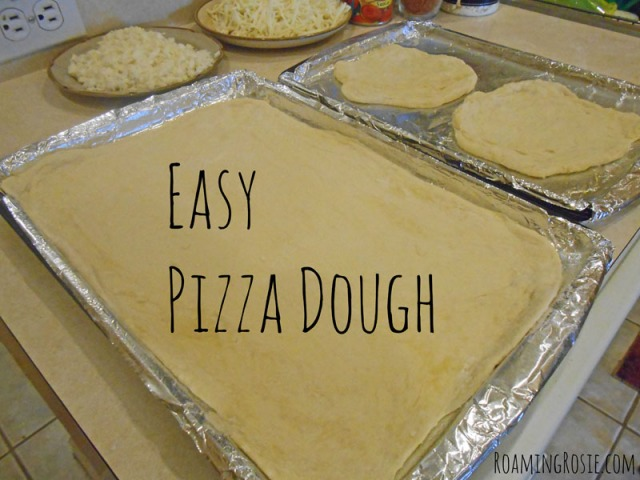 Easy Pizza Dough Recipe {And How to Proof Yeast} at RoamingRosie.com
