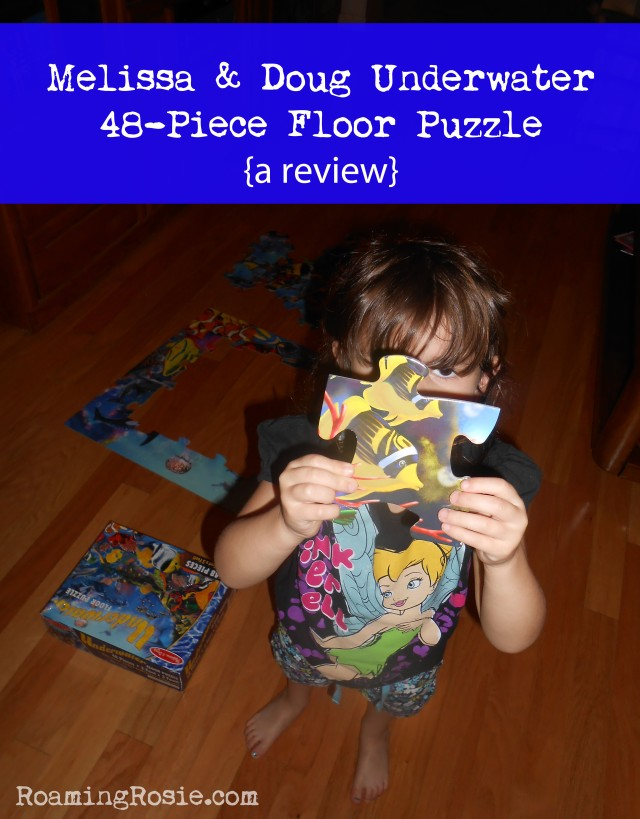 Melissa and Dough Underwater 48 Piece Floor Puzzle {a review from RoamingRosie.com}